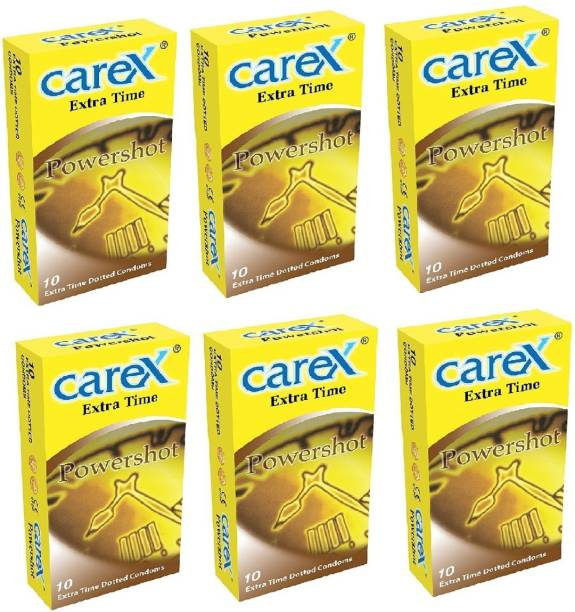 CAREX Power Shot Extra Time Dotted Condom Condom
