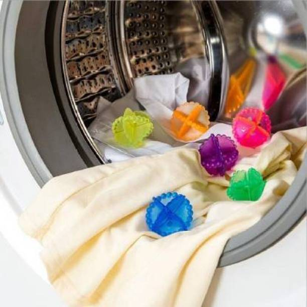 Sitaram Creation Washing Machine Brush Laundry Dryer Ball for Cloths Cleaning SET OF 10 Dishwash Bar
