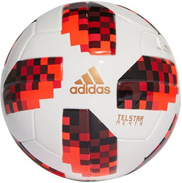 ADIDAS Red Telstar Replica Football - Size: 5