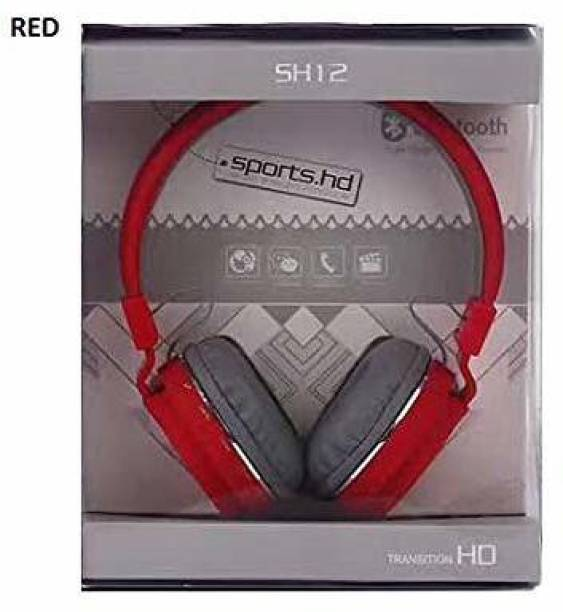 GadgetX BluetoothSH12 wireless Headphone With FM and SD Card Slot Bluetooth Headset