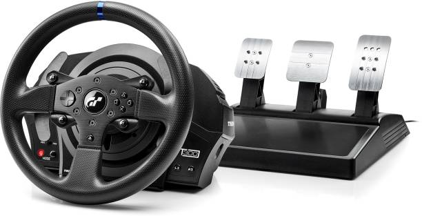 THRUSTMASTER 4160681T300RS GT Edition Steering Wheel and Pedal Set (Black)  Joystick