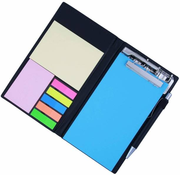 Techpugg STICKY NOTES & CLIP HOLDER IN DIARY 50 Sheets Regular, 5 Colors