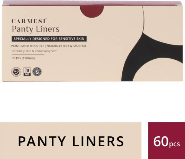 carmesi Panty Liners - Designed for Sensitive Skin (60 Pieces) Pantyliner