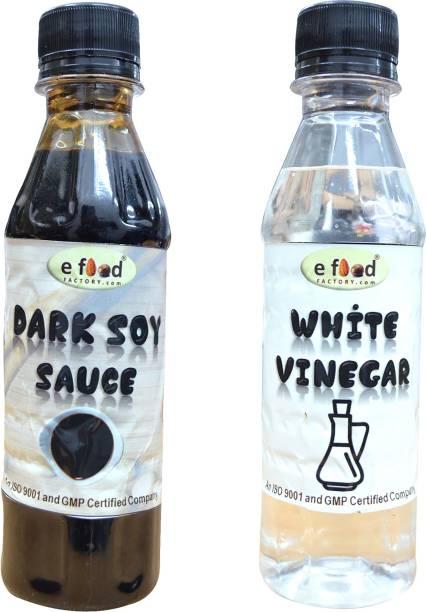 E Food Factory Dark Soya Sauce & White Vinegar 200 g Pack of 2 Sauces