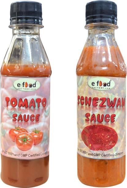 E Food Factory Tomato sauce & Schezwan sauce 200 g pack of 2 Sauces