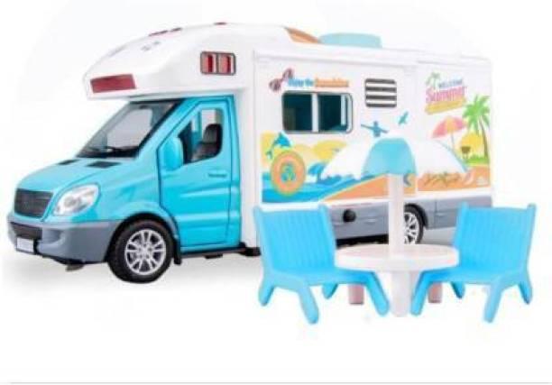 meeraenterprise Motor Caravan Travel Touring Car Food Delivery Truck (Multicolor, Pack of: 1)