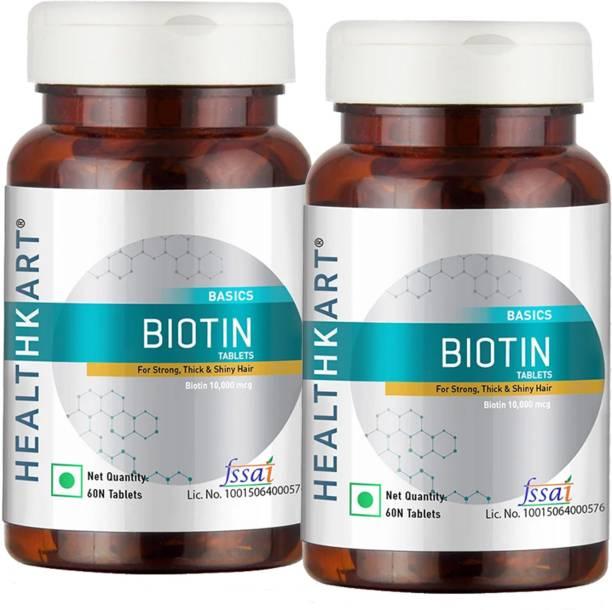 HEALTHKART Biotin (Pack of 2),