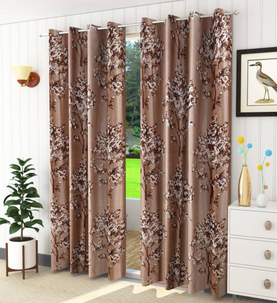 Luxury Crafts 214 cm (7 ft) Polyester Door Curtain (Pack Of 2)