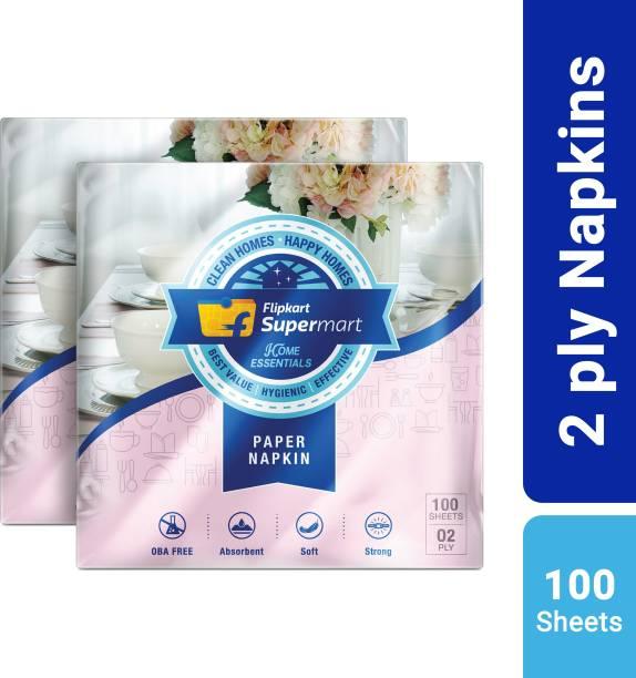 Flipkart Supermart Home Essentials 2 Ply White Napkins