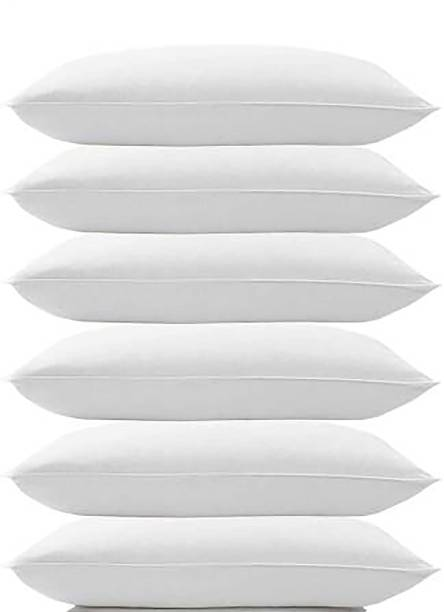 Zodeox Cotton Solid Sleeping Pillow Pack of 6