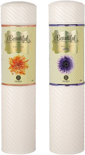 Lyla Blanc TALC ANGELIC LAURING for Women - (Set of 2) (250gm each)