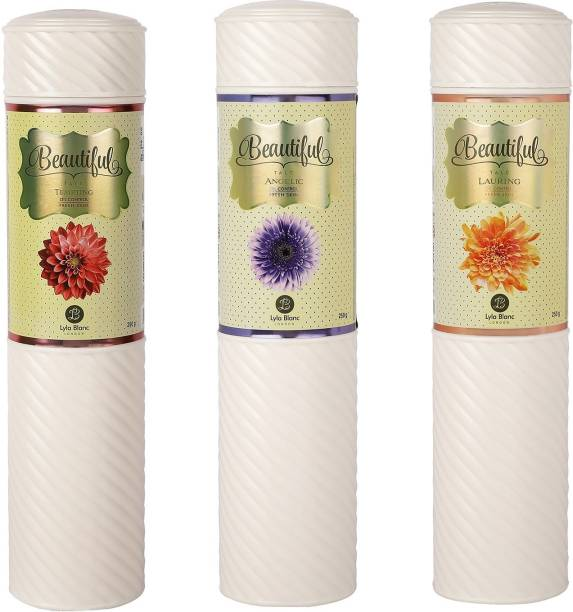 Lyla Blanc TALC TEMPTING ANGELIC LAURING for Women - (Set of 3) (250gm each)