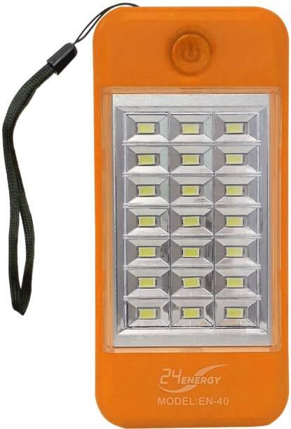 24 ENERGY 21 Hi-Bright LED Light with Power Bank Rechargeable Orange Plastic Hanging Lantern