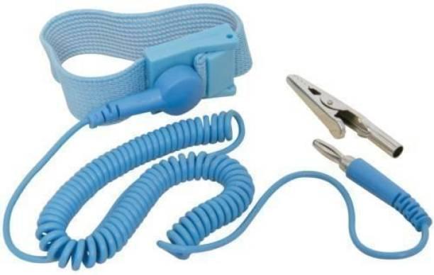 Indoe Ele B To C Anti-Static [ESD] Safe Discharge Wristband (Combo of 5 pcs) Cord Anti-Static Wrist Strap
