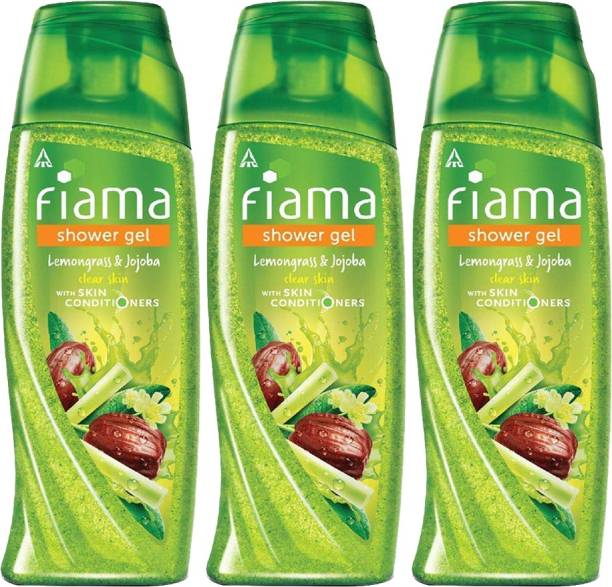FIAMA Shower Gel Lemongrass & Jojoba Pack of 3