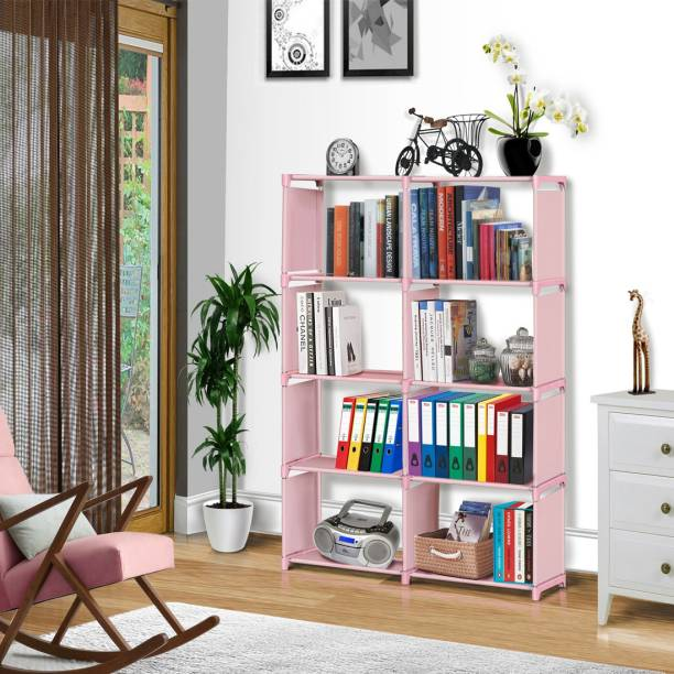 FURIONE PINK 10 SHELVE MULTIPURPOSE Metal Open Book Shelf