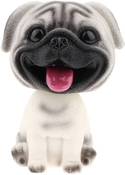 HSR Car Dashboard Accessories Shaking Head Dog Car Decor,Bobble-Head Toy Car Hanging Ornament