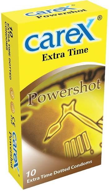 CAREX Power Shot 10 Extra Time dotted condom Condom