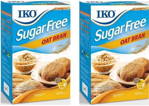 Iko Sugar Free Biscuits, Oat Bran, 200g (Pack Of 2),400g Cream Cracker Biscuit