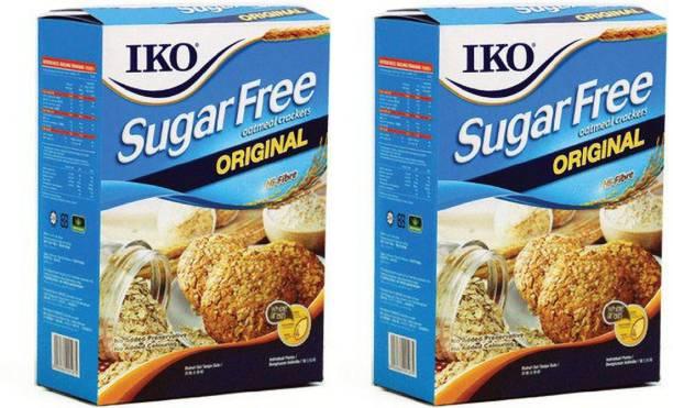 Iko Sugar Free Oatmeal Crackers Original,200g (Pack Of 2),400g Cream Cracker Biscuit