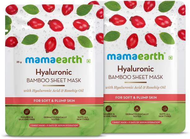 MamaEarth Hyaluronics Bamboo Sheet mask(Pack of 2)