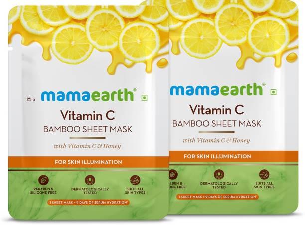 MamaEarth Vitamin C Bamboo Sheet Mask(Pack of 2)