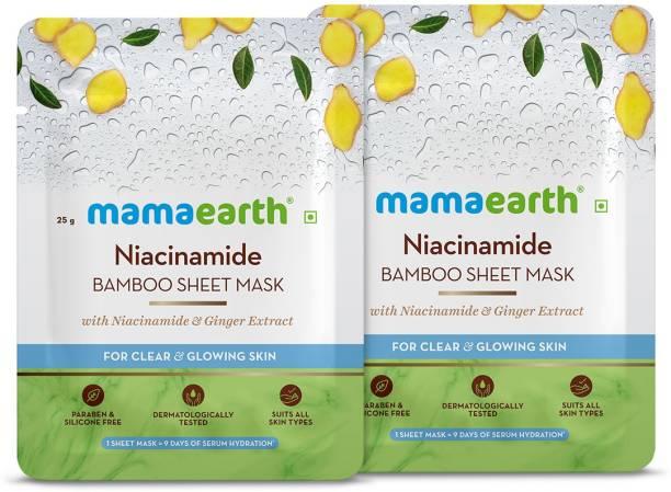 MamaEarth Naicinamide Bamboo Sheet mask(Pack of 2)