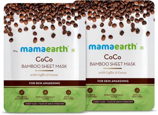 MamaEarth Coco Bamboo Sheet Mask (Pack of 2)