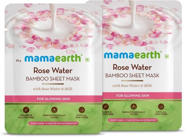 MamaEarth Rose Bamboo Sheet mask(Pack of 2)