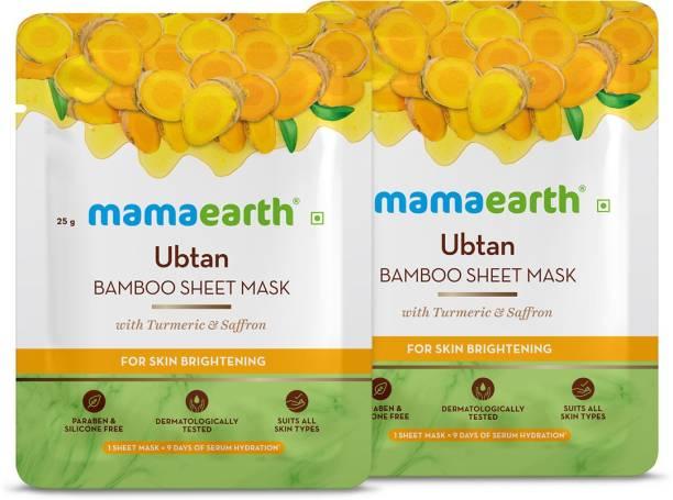 MamaEarth Ubtan Bamboo Sheet Mask(Pack of 2)