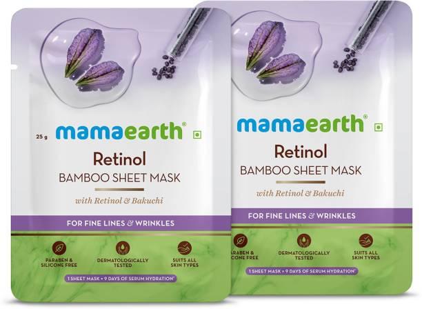 MamaEarth Retinol Bamboo Sheet mask(Pack of 2)