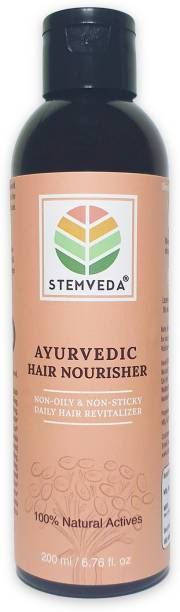 STEMVEDA Ayurvedic Hair Nourisher for Daily Use | Modern Replacement for Hair Oil & Hair Serum for Women & Men | Non Sticky, Non Greasy Hair Revitalizer Enriched with Aloe Vera, Bhringraj, Brahmi, Amla & 13 More Herbal Extracts for Hair Fall Control, Dandruff Control & Hair Growth Hair Oil
