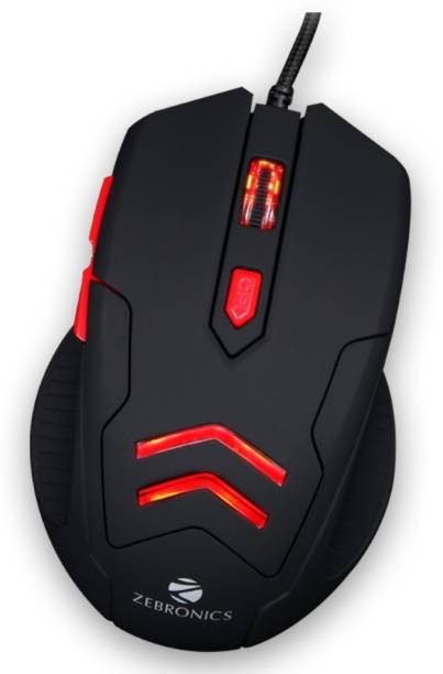ZEBRONICS Feather Wired Optical  Gaming Mouse