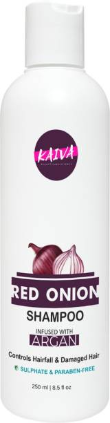 Kaiva Red Onion & Argan Hair Shampoo for Hair Fall Control infused with Argan Oil