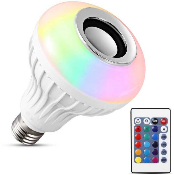 LEDIFY Led Bulb with Bluetooth Speaker Music Light Bulb B22 LED White + RGB Light Ball Bulb Colorful Lamp with Remote Control for Home, Bedroom, Living Room, Party Decoration Smart Bulb
