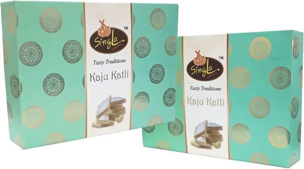 Singla Kaju Katli Sweets Mithai 500g Combo (Pack of 2*500, 1000g) Box