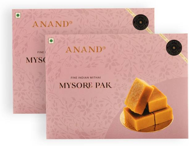 Anand Mysore Pak - Special Soft Melt in Mouth Pure Ghee Mithai - Pack of 2 Box