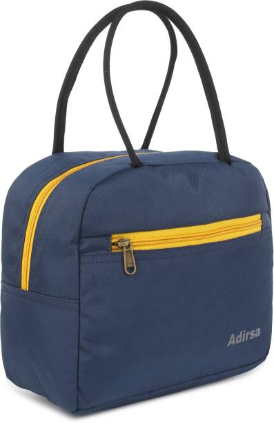 ADIRSA LB3009 NAVY BLUE Lunch Bag for Office Men, Women and Kids, Leak Proof Water Resistant Polyester Made Lunch Tiffin Bag for School, Picnic, Work, Carry Bag for Lunch Box Waterproof Lunch Bag
