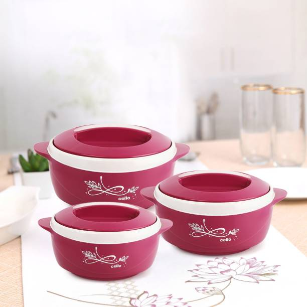 cello Sapphire Pack of 3 Thermoware Casserole Set