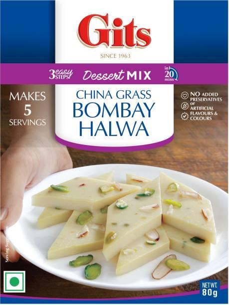 Gits China Grass Bombay Halwa Dessert Mix 80 g
