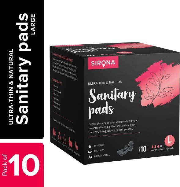 Sirona Ultra-Thin Sanitary Pads - 10 Units (Large Night Pads) 290mm Sanitary Pad