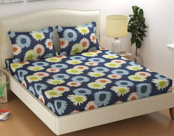 FASHION EXPLORERS 150 TC Cotton Double Geometric Bedsheet