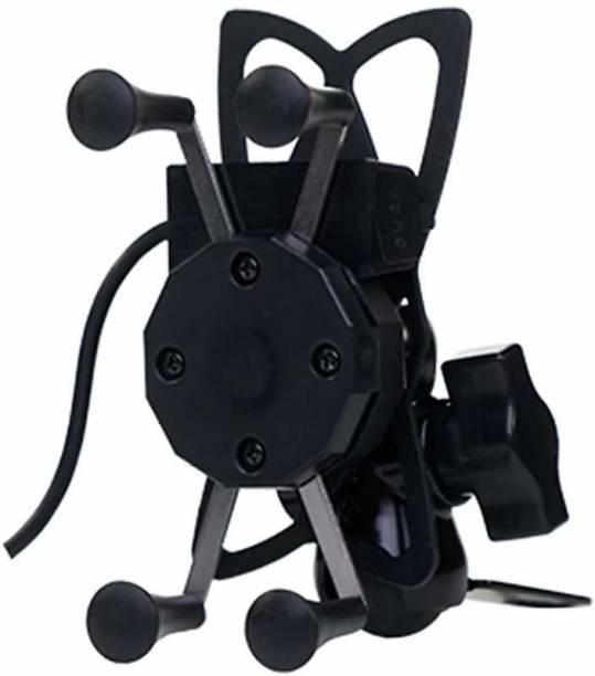 Savgyan ® Bike Mobile Charger and Phone Holder for All Bikes Multi-Functional Mobile Holder X Grip Handlebar Bike Mobile Holder