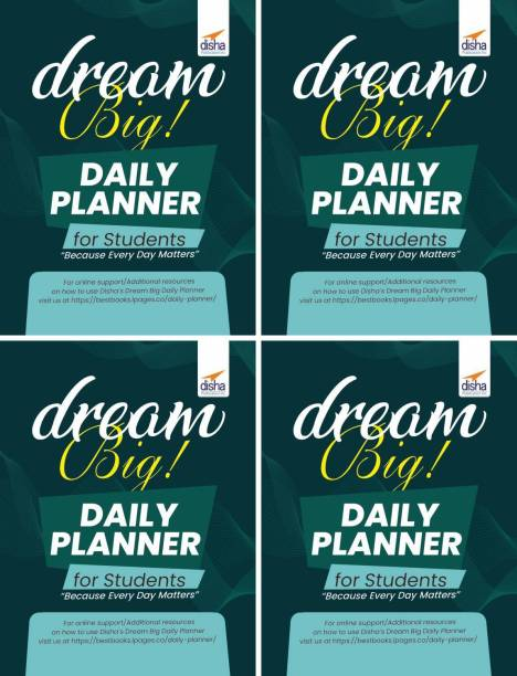 Disha's Dream Big Daily Planner for students (set of 4 Planners)