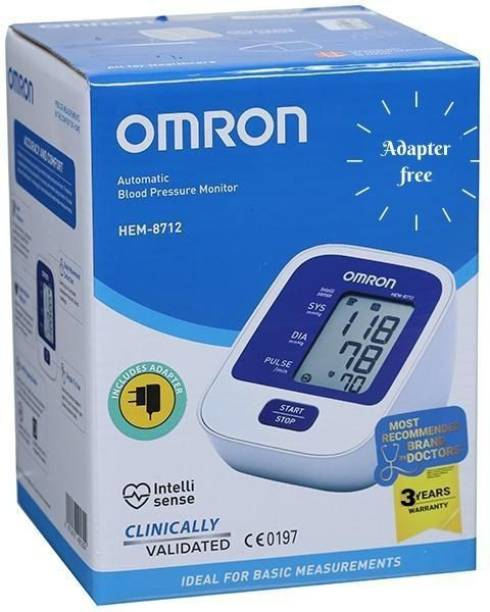 OMRON 8712 Blood Pressure Monitor with Adapter Free Bp Monitor