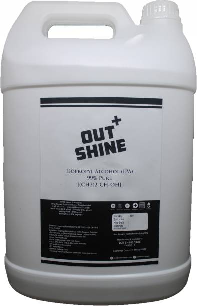 Outshine+ IPA ISO PROPYL ALCOHOL 99.9% PURE [(CH3)2-CH-OH] for Computers, Laptops, Mobiles