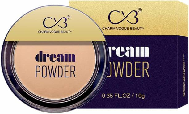 CVB C73-03 Dream Pressed Face Powder for Buildable Full Coverage, Non-Cakey & Matte Finish (01 WHITE IVORY, 10g) Compact