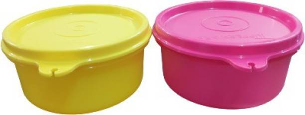 TUPPERWARE Lunch Box container ( yellow + pink ) 250ml each set of 2  - 250 ml Plastic Grocery Container