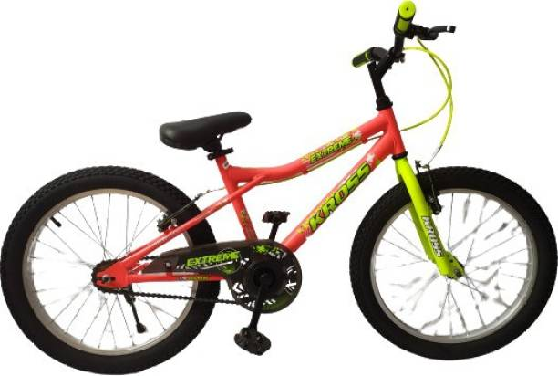 Kross Extreme Fat Tyre Sports Girls Boys Kids Orange 20T Mountain Bike Bicycle 20 T Fat Tyre Cycle