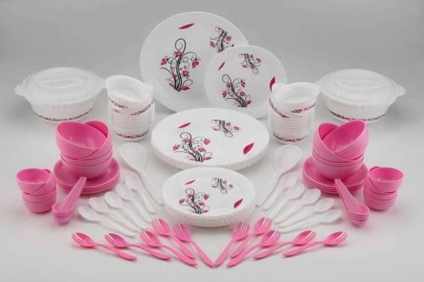 dev enterprise Pack of 90 Plastic Dinner Set